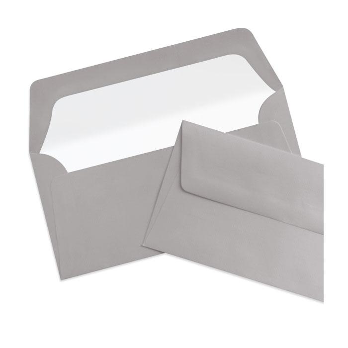 Briefumschlag Seidenfutter Taupe (Graubraun) (220 x 110 mm)