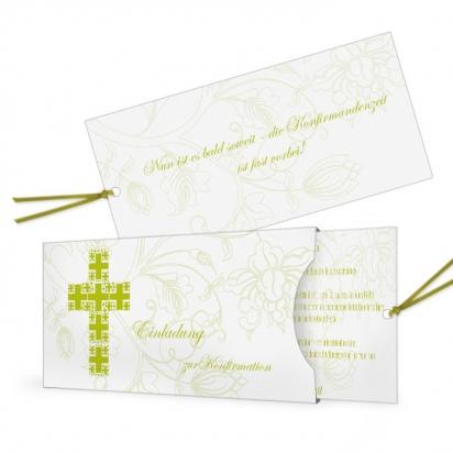 Einladungskarte zur Kommunion / Konfirmation