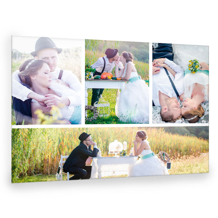 Moderne Fotocollage für die schönsten Hochzeitsfotos