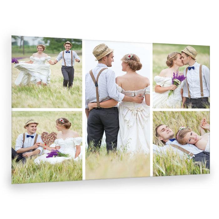 Hochzeits Fotocollage mit großen Fotos online selbst gestalten
