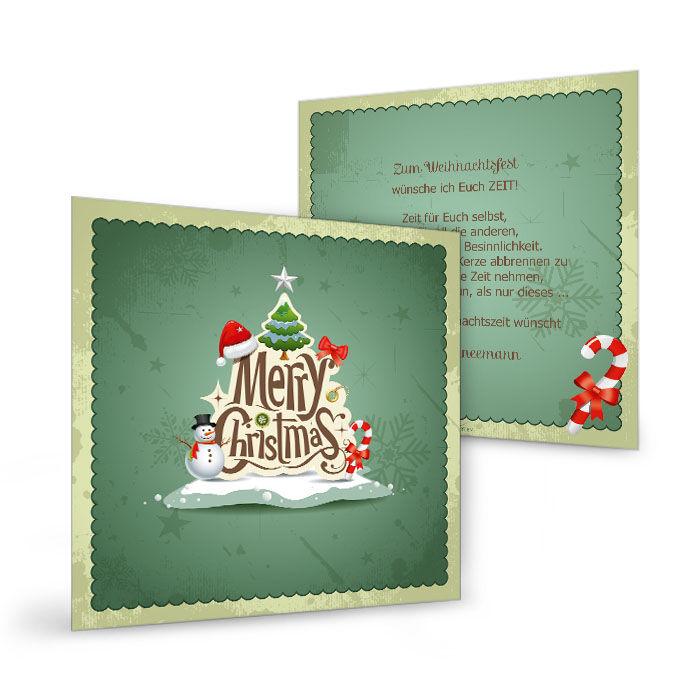 Witzige moderne Weihnachtskarte Green Christmas