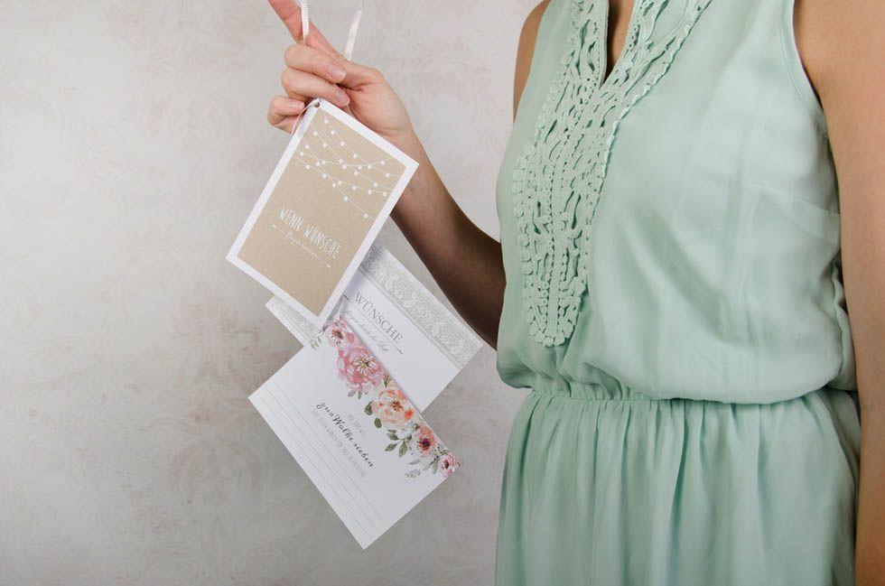 Ballonkarten für die Hochzeit im Design der Hochzeitspapeterie