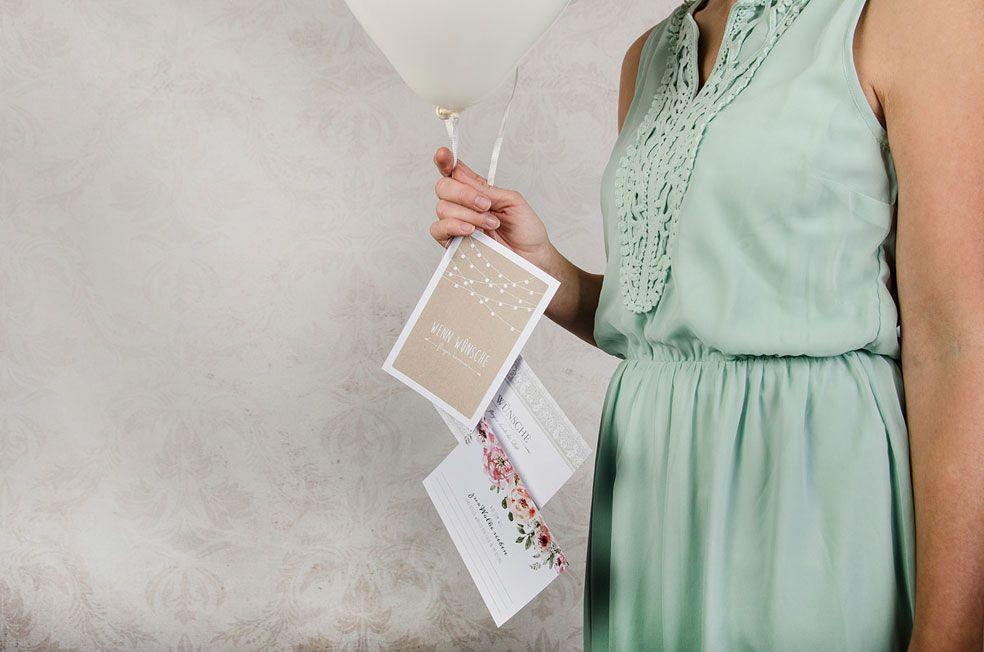 Ballonkarten zur Hochzeit