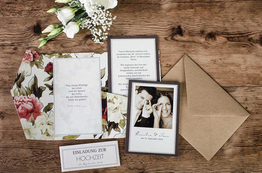 Einladung Pocket Fold Mit Pfingstrosen Emilia Und Tom   Carinokarten