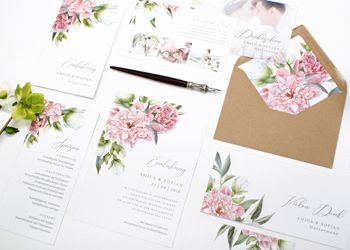 10 X Hochzeitseinladungen Blumen Rosen Hochzeitskarten