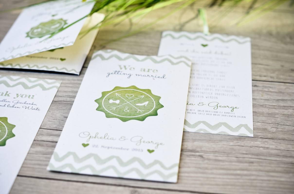 Grüne Einladungskarten Selbst Online Gestalten