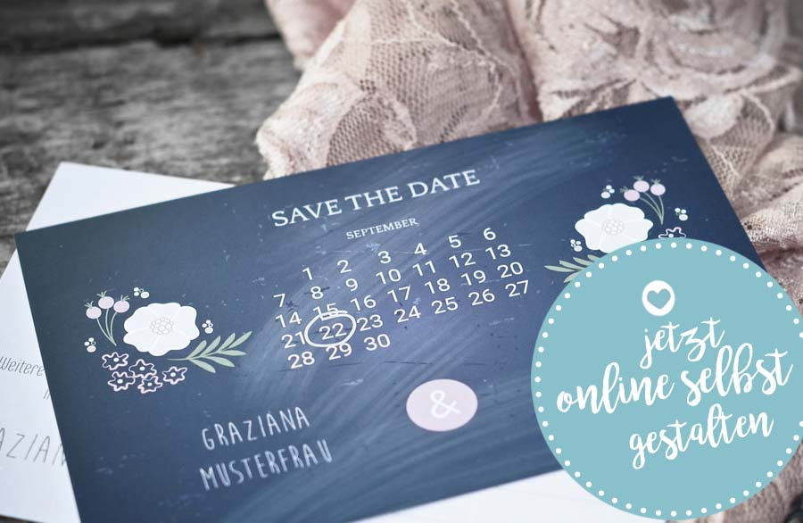 Save-the-Date-Karten - alle Informationen und 11 Textideen