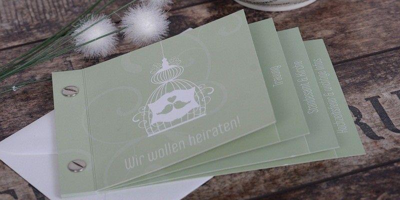 einladungskarten zur hochzeit als booklet gestalten, Einladungsentwurf