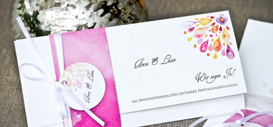 Watercolor Einladungen Zur Hochzeit Im Wasserfarbendesign