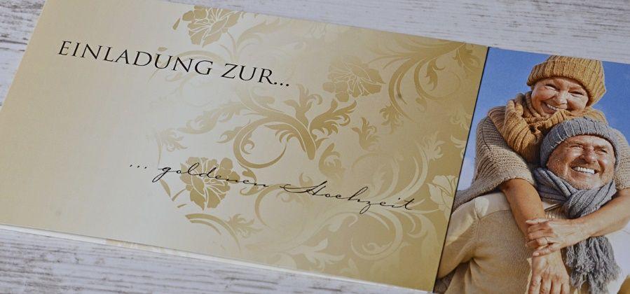 einladungskarten für die goldene hochzeit selbst gestalten, Einladungsentwurf