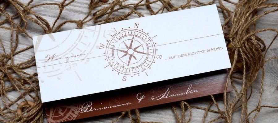 Maritime Hochzeitskarten selbst gestalten