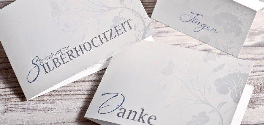 einladungskarten silberhochzeit selbst gestalten, Einladungsentwurf
