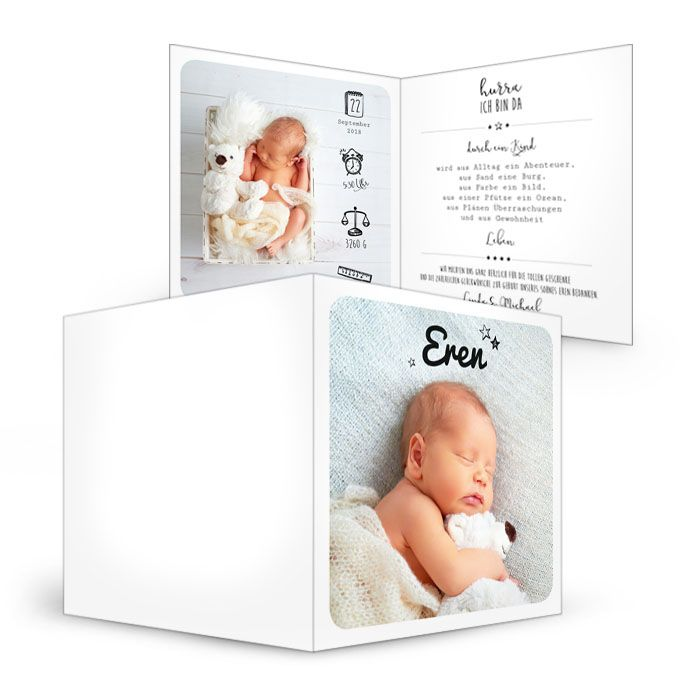 Geburtskarten individuell online selbst gestalten - carinokarten