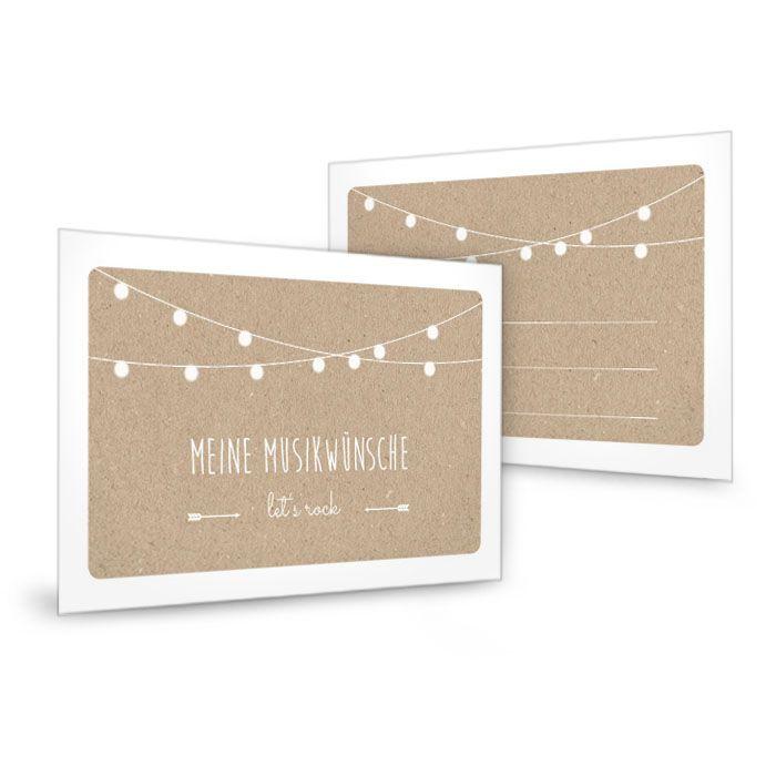 Musikwunschkarten zur Hochzeit - carinokarten