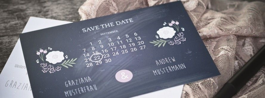 save the date karten f r die hochzeit selbst gestalten. Black Bedroom Furniture Sets. Home Design Ideas