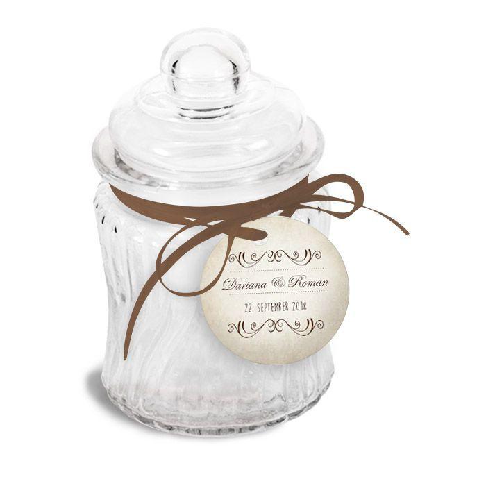 Geschenkanhänger für Gastgeschenke und Wunderkerzen zur Hochzeit von carinokarten