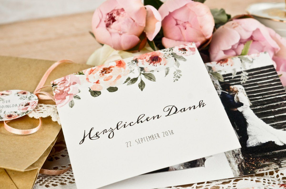 vintage hochzeitskarten mit wasserfarbe blumen carinokarten. Black Bedroom Furniture Sets. Home Design Ideas